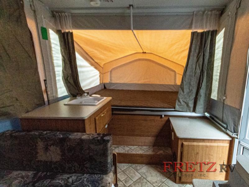 Used pop-up camper interior